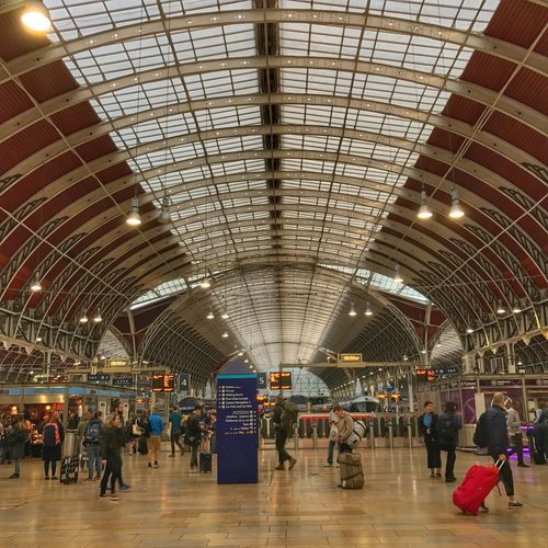 London Paddington Station Ceiling Indoors  Passenger Large Group Of People Illuminated Real People Architecture People Adult Day Adults Only London Londonpaddingtonstation Paddington Paddington Station Architecture