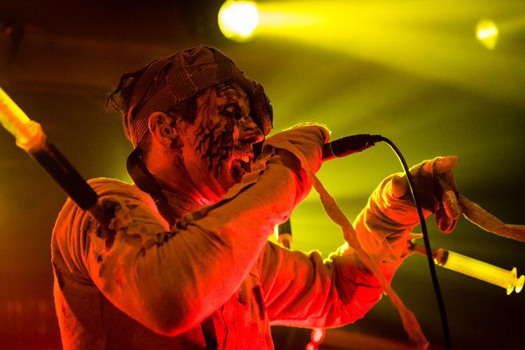Alternative Music Close-up Concert Electronic Music Shots Headshot Illuminated Krakow Music Night Rock Music Singer  Skinny Puppy Stage Light Stage Performance