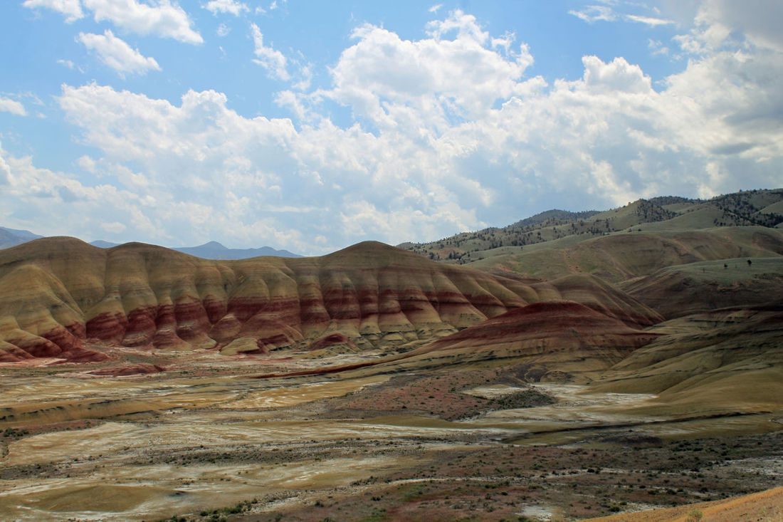 Painted Hills Unit at the John Day Fossil Beds National Monument Beauty In Nature Blue Sky Cloud Colors Colors Of Nature Desert Geology High Desert Hiking John Day Fossil Beds Landscape Nature Oregon Outdoors Painted Hills Rock Formation The Great Outdoors - 2016 EyeEm Awards Tourism