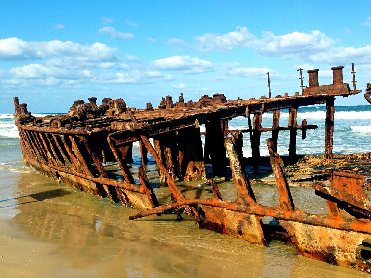 The Maheno Shipwreck, Fraser Island, Australia Shipwreck Australia Wreck Ship Beach Fraser Island Maheno Shipwreck Traveling Travel Adventure Eye4photography  EyeEm Best Shots Travel Photography Hello World Check This Out Taking Photos Enjoying Life Rust Showcase: November The KIOMI Collection