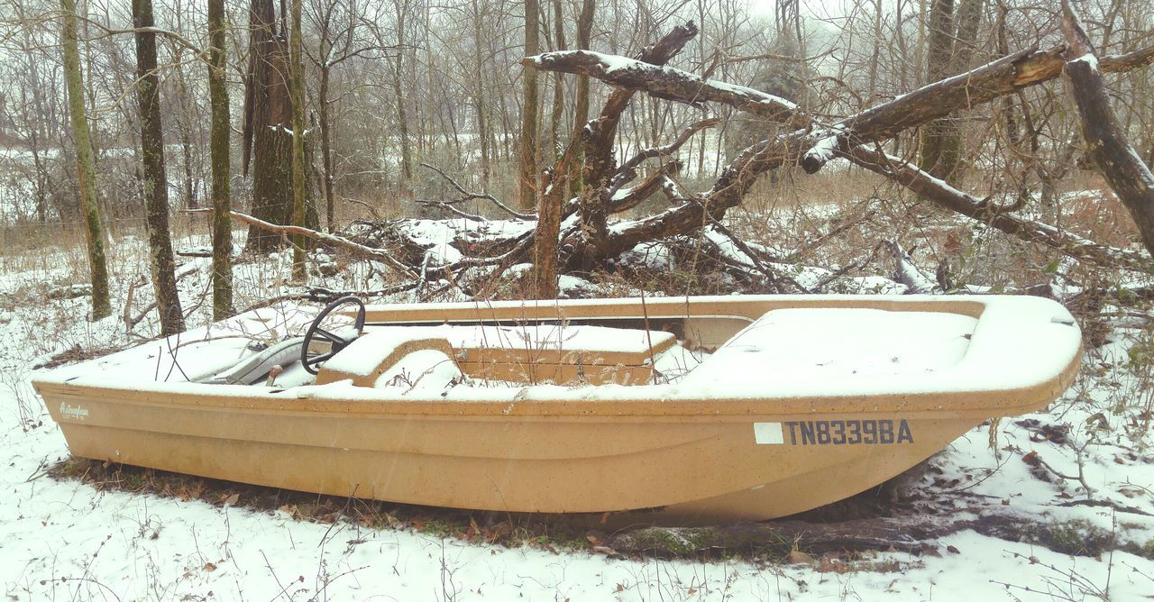 Boat Outdoors Nature Winter Snow Ice Fwjphotos LG G4