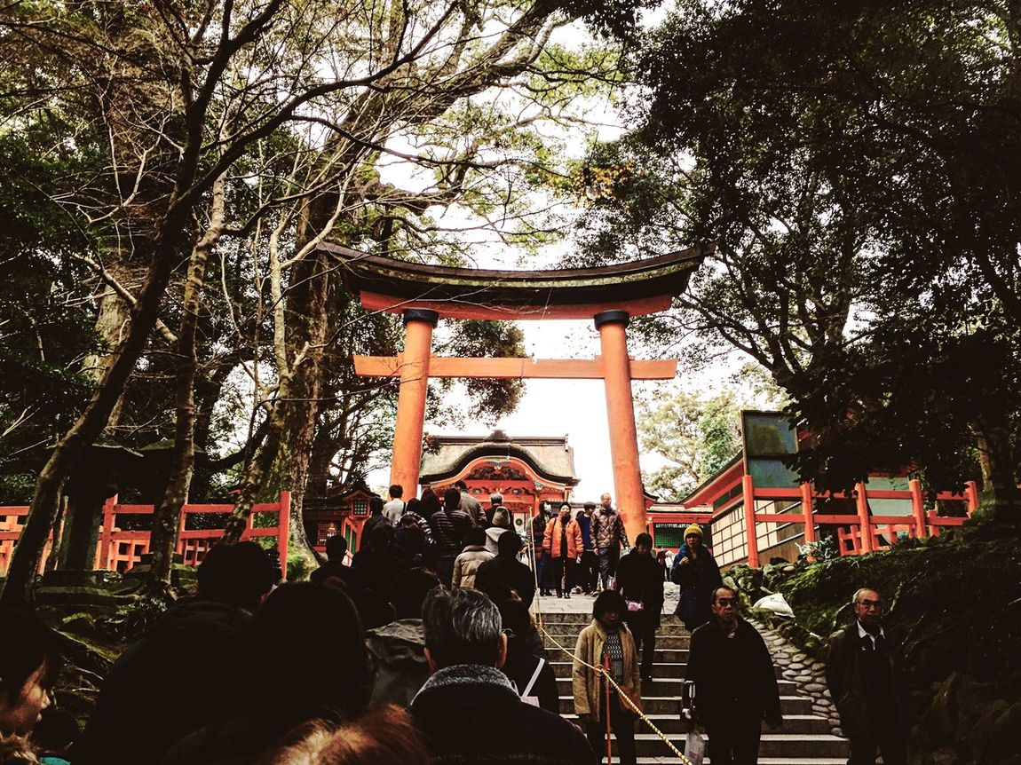 First day of the year. Tree Real People Large Group Of People Lifestyles Japan Shrine Oita Men Women Built Structure Mixed Age Range Outdoors Day Crowd Adults Only People Adult