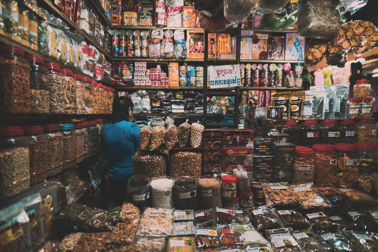 Labyrinth For Sale Retail  Market Large Group Of Objects Multi Colored Choice Variation Store Market Stall Abundance Food Business Cambodia Showcase: April Real Life Travel Destinations Travel Photography Real People The Street Photographer - 2017 EyeEm Awards