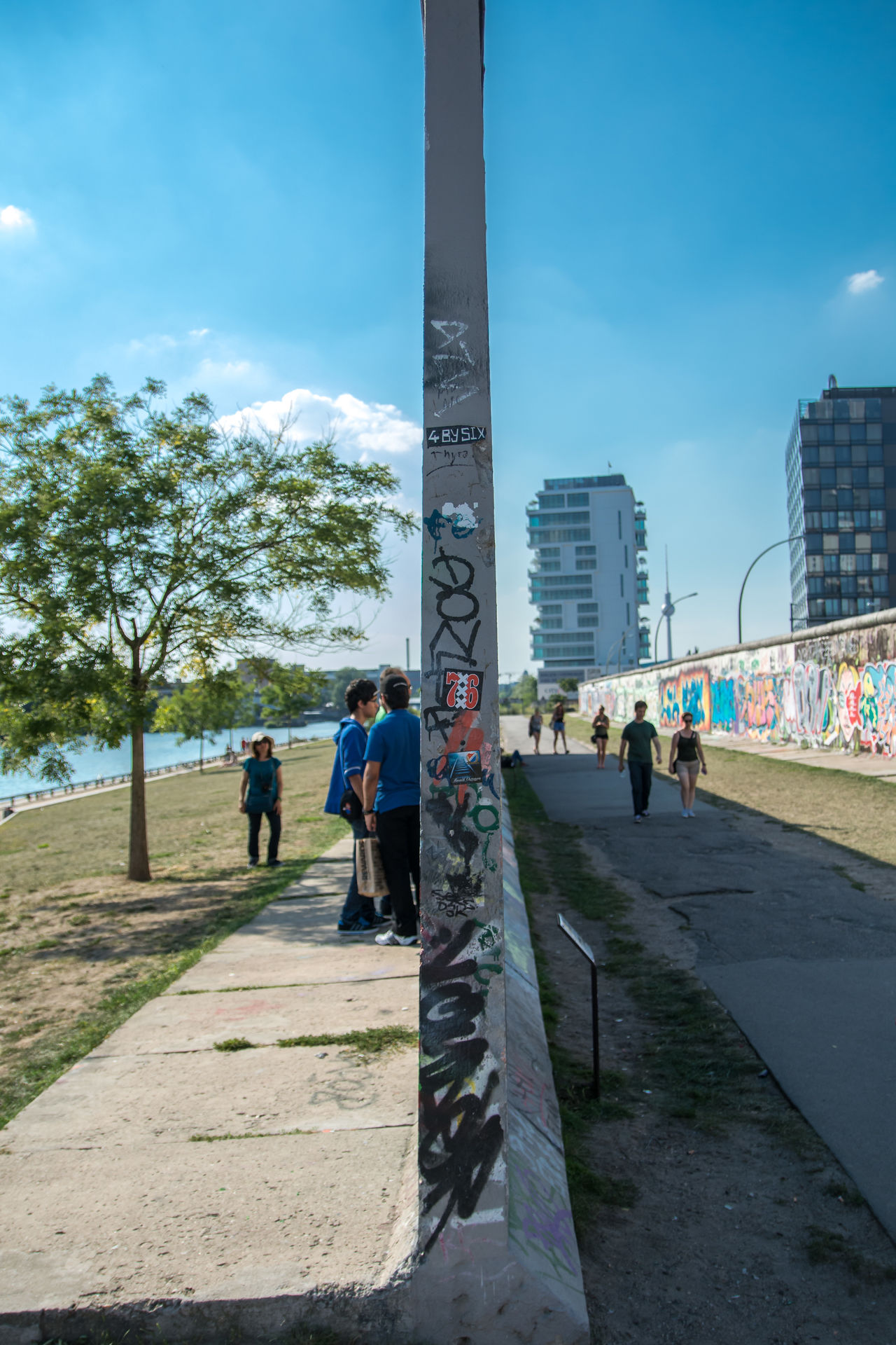 Beautiful stock photos of berliner mauer, real people, built structure, day, architecture