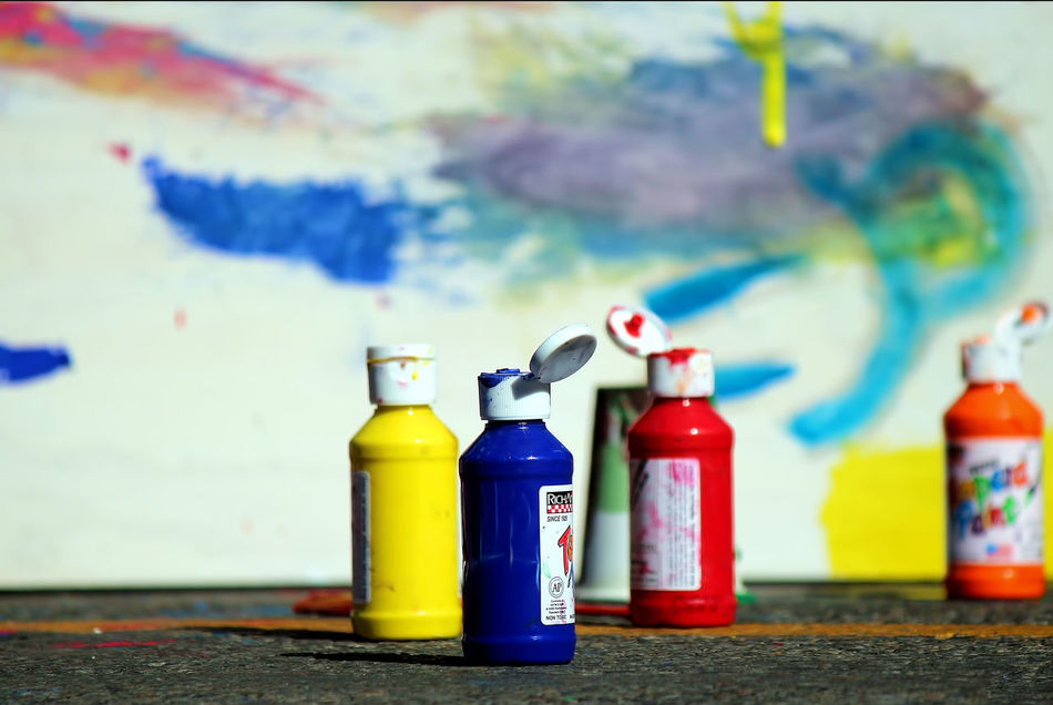 Ready to paint Close-up Day Focus On Foreground No People Outdoors Paint Paint Bottles