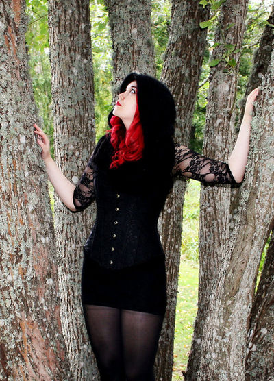 Stressed minds, forgotten space. We live our lives all in vain. Pendulum of time goes back and forth. Tick tock. We forget to live in fear of death. Redhead Nature Hugging A Tree Corset
