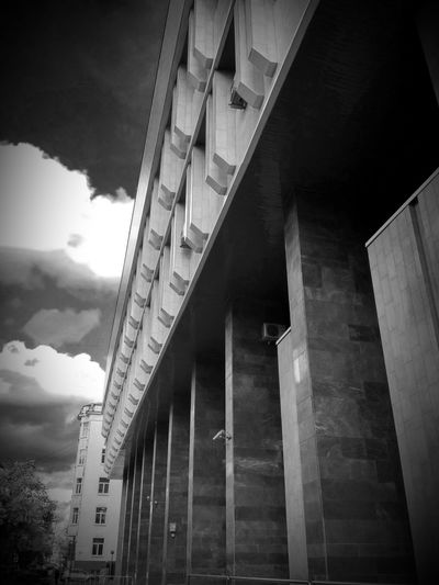 Black & White Geometry Clouds Urban Architecture Building Building Exterior Black And White