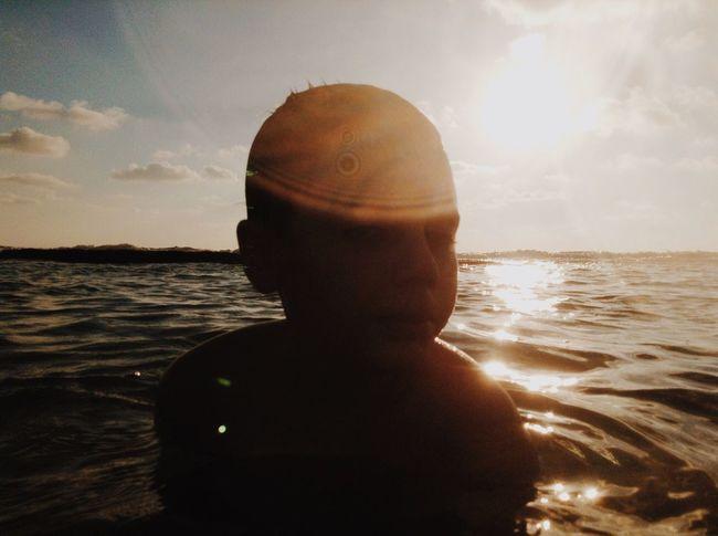 Sea Water Sky One Person Shirtless Sun Childhood Sunlight Nature Beach Sunset Lifestyles Outdoors Horizon Over Water Day Close-up People Ipod Shotonipod מייאייפוד מייגיא מייים TCPM Sommergefühle
