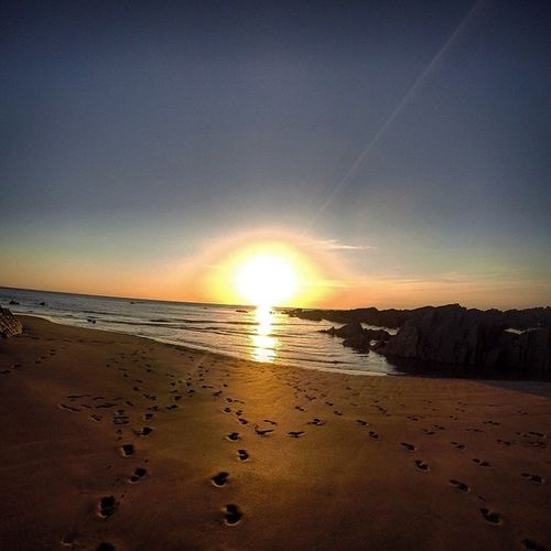 Makeyourmark Footprints Sand Couples❤❤❤ Footprints In The Sand Beautiful Beach Love Woolacombe Hideaway Private Beach Sunset Sunset Silhouettes Sunsset Ocean View Ocean Seaside Seascape OurColorfulPlanet Ourplace Secret Places Lovelife Gopro Capture The Moment Looking Into The Future