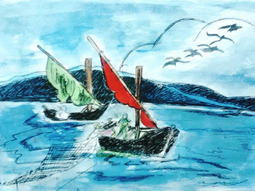 In School. :) Painting Boats⛵️ Good Times Painting! Remembering Remembering Childhood