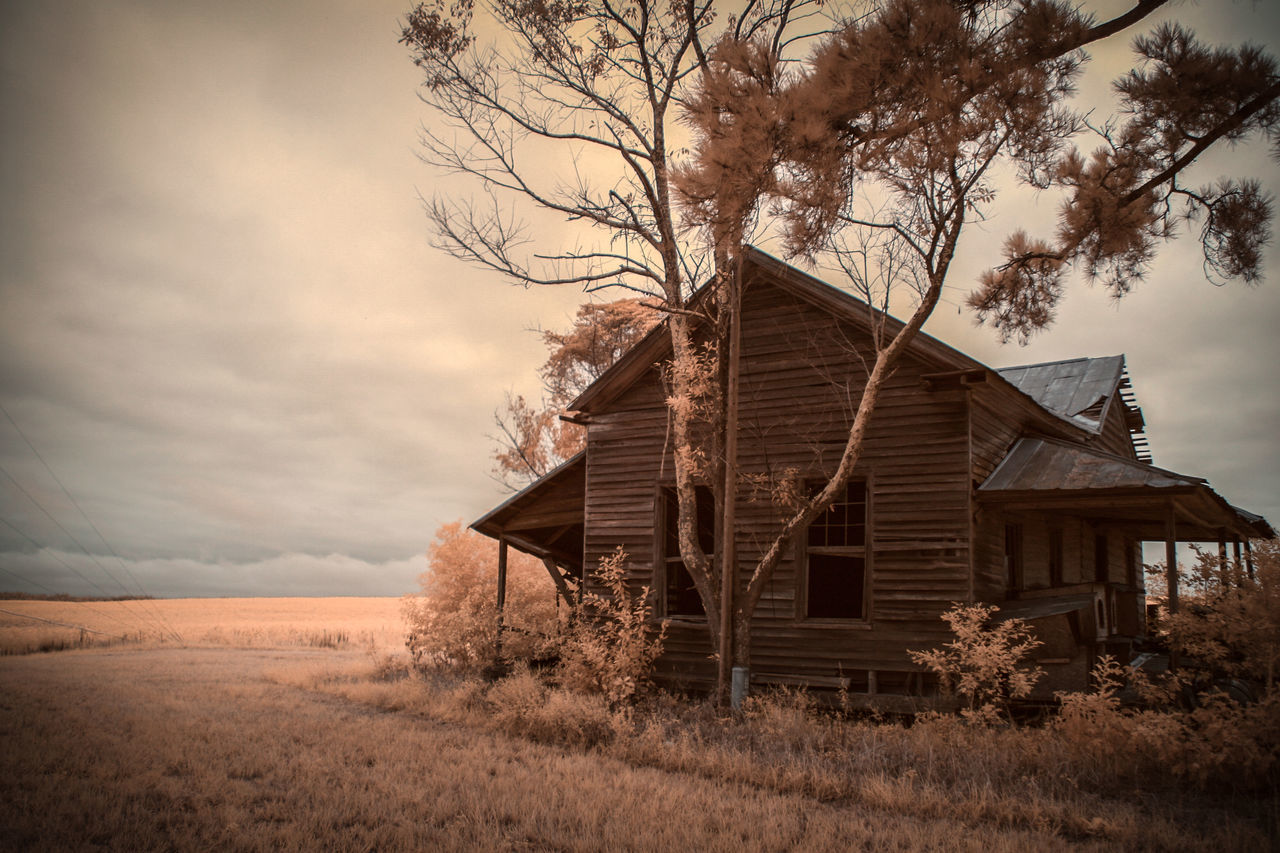 Abandoned Dark Sky Decay Decaying Deteriorated Deterioration Infrared Infrared Photography Overcast Run-down Sepia Sepia Photography Sepiatone Sky