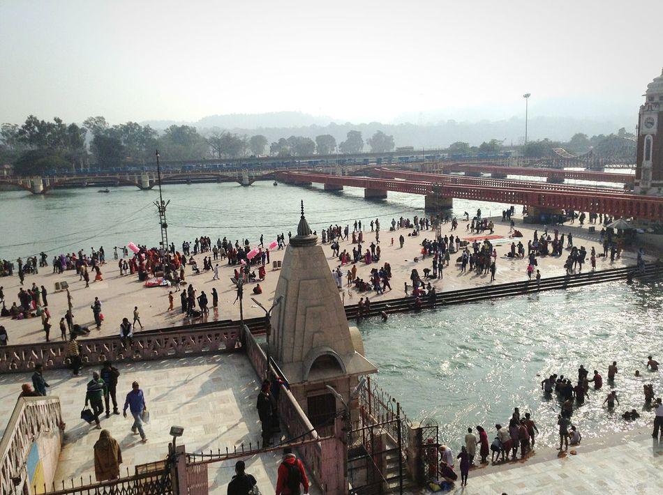 Hardwar India Ganga Ganga River People BathingTemple Incredible IndiaThe Great Outdoors With Adobe My Favorite Photo The Photojournalist - 2016 EyeEm Awards Showcase June