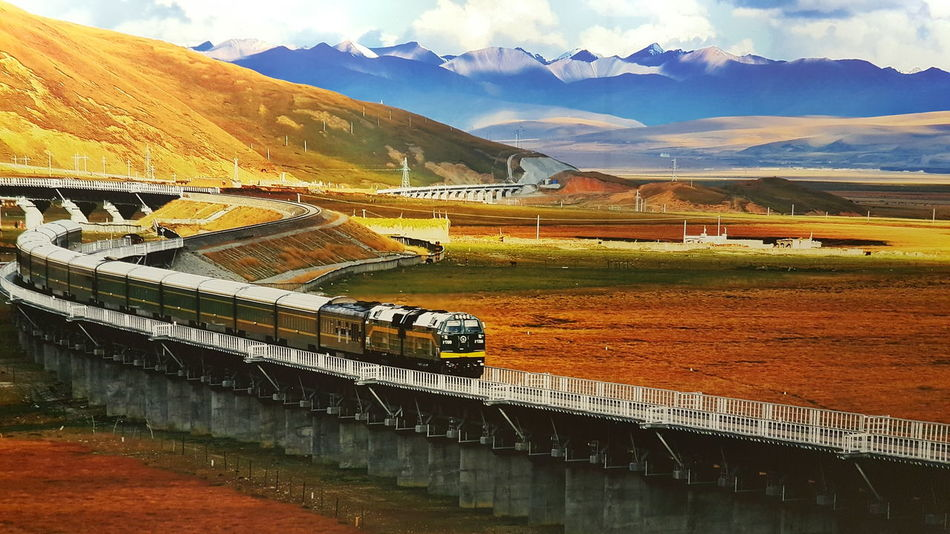 Dreaming Wanting This!   No People Mountain Range Traveling China You About Me Mountain Reflection Sky Cloud - Sky Landscape Water Sport Outdoors Business Finance And Industry Sports Venue Architecture Nature Day Steam Train Black Background Family