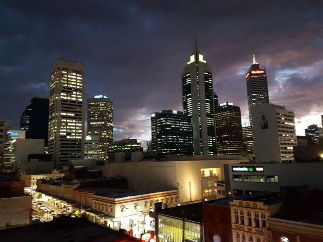 Perth CBD Nightcitylights Perth