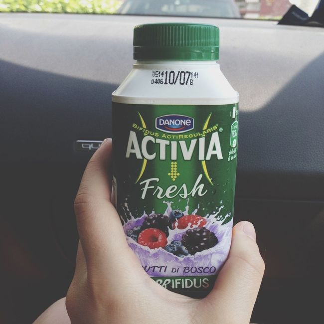 Drinking A Smoothie