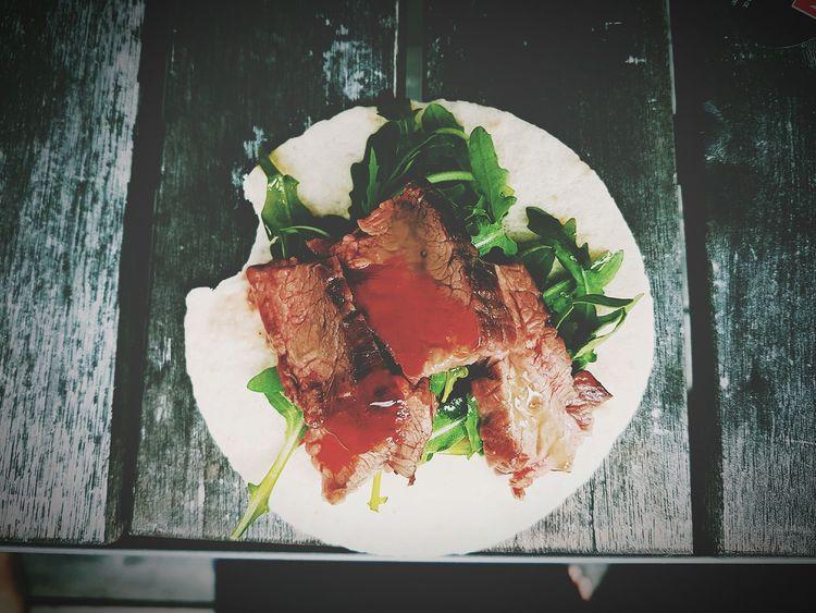 Taco for lunch :) Streetfood Flank Steak  Tacos Foodporn Foodphotography Eyeem Food  EyeEm Food Photography
