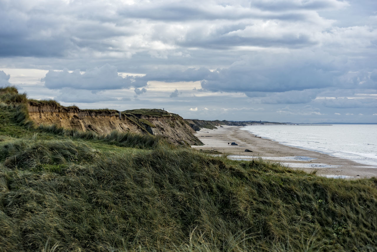coastline Beach Beauty In Nature Cloud - Sky Coastline Day Grass Horizon Over Water Landscape Nature No People Northsea Outdoors Sand Dune Scenics Sea Sky