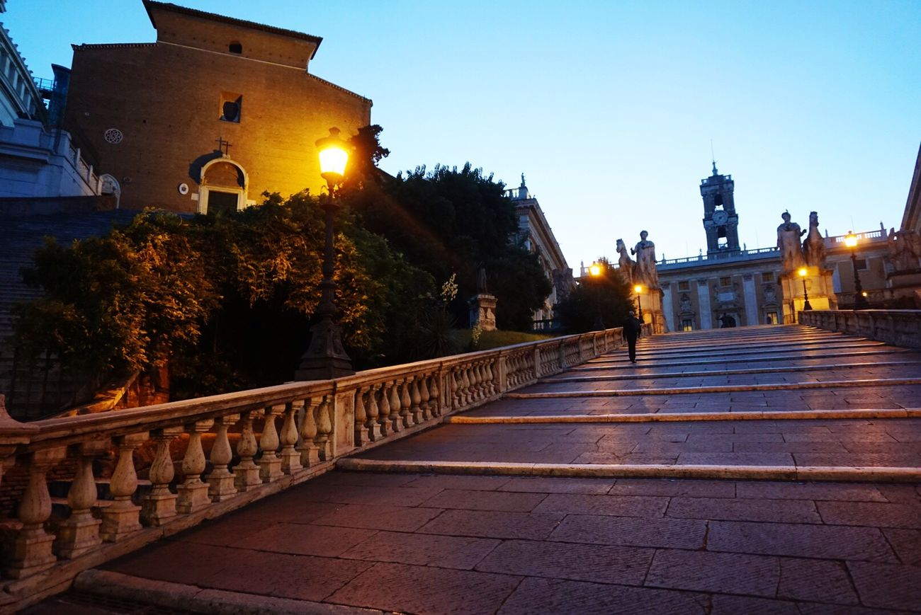 Roma Capitoline Dawn Steps