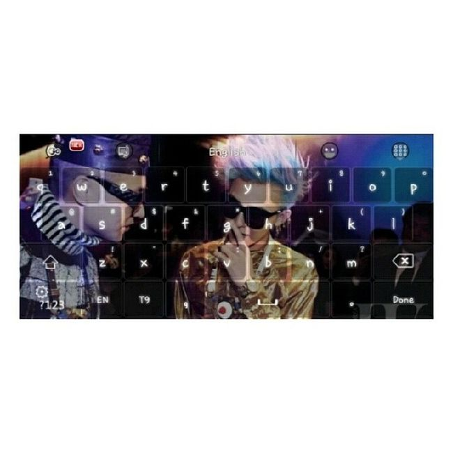 "My Cute keyboard in Tablet :"")) ❤ Jiyong Gokeyboard Cute Gdragon ♡♡"