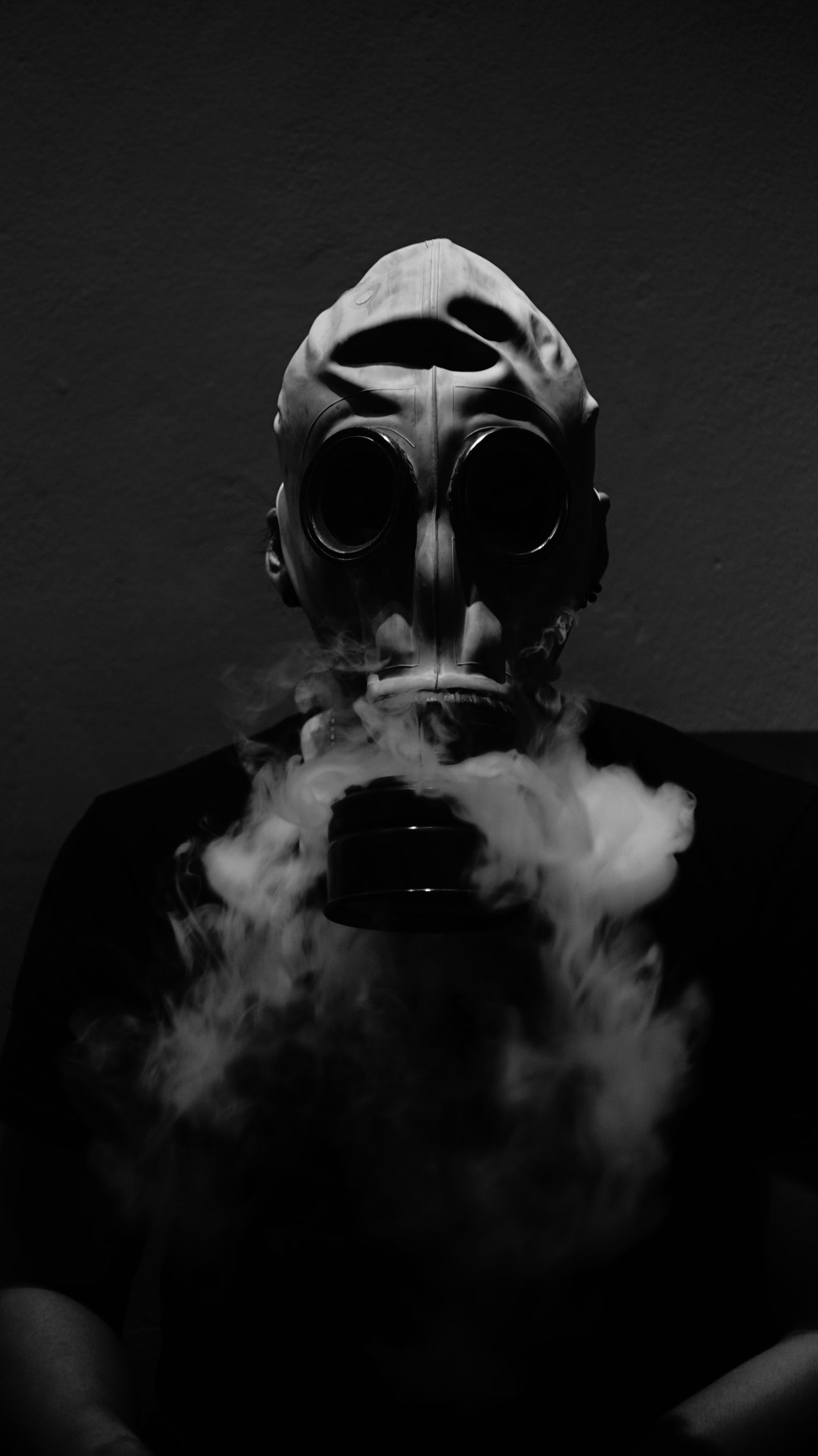 #life Blackandwhite #gasmask #smoker #soldier #vape Cropped Lifestyles Unrecognizable Person