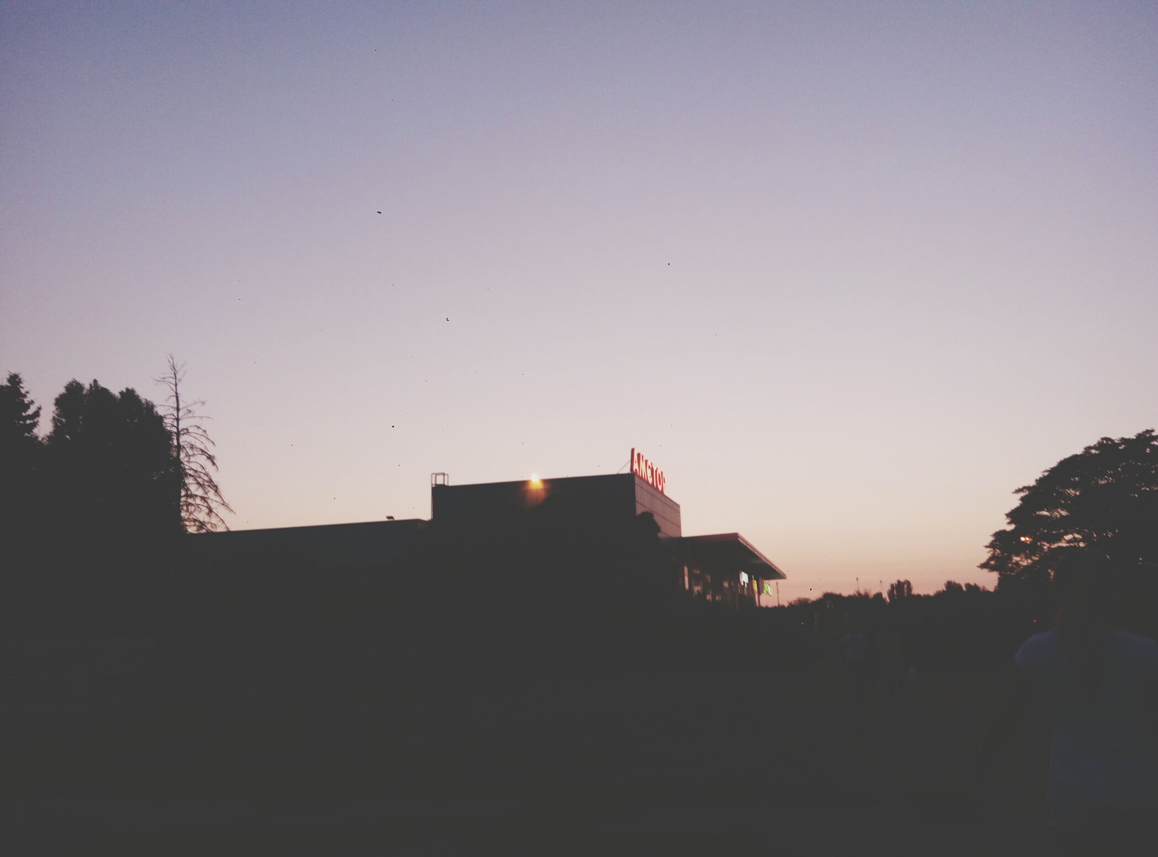 silhouette, architecture, built structure, building exterior, copy space, clear sky, dusk, house, outline, dark, outdoors, nature, no people, tranquility