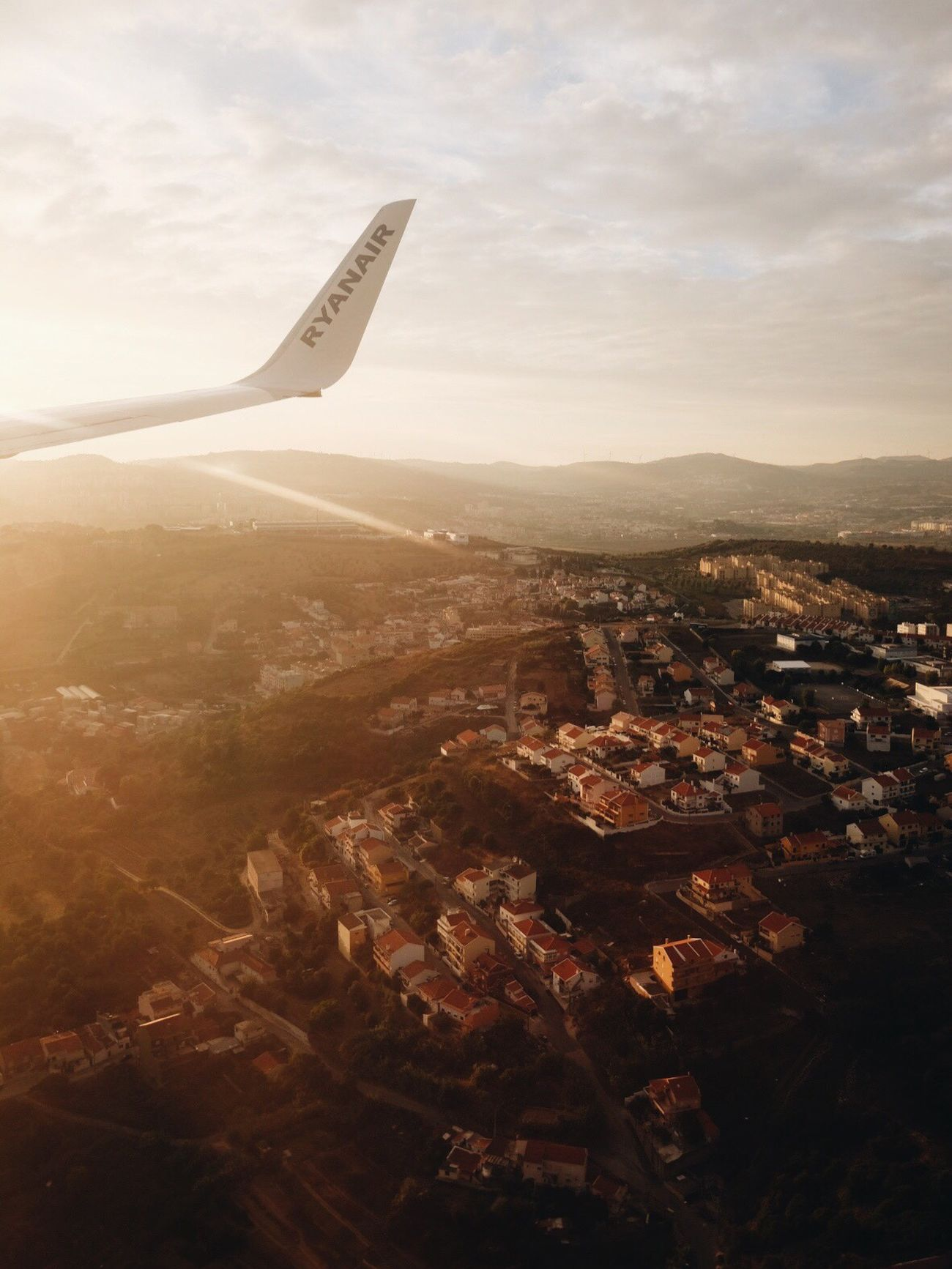 Olà Lisbon! Travel Airplane Shot Airplane Wing Countryside Mood Captures From An Airplane Window From Above  Up In The Air Lisbon