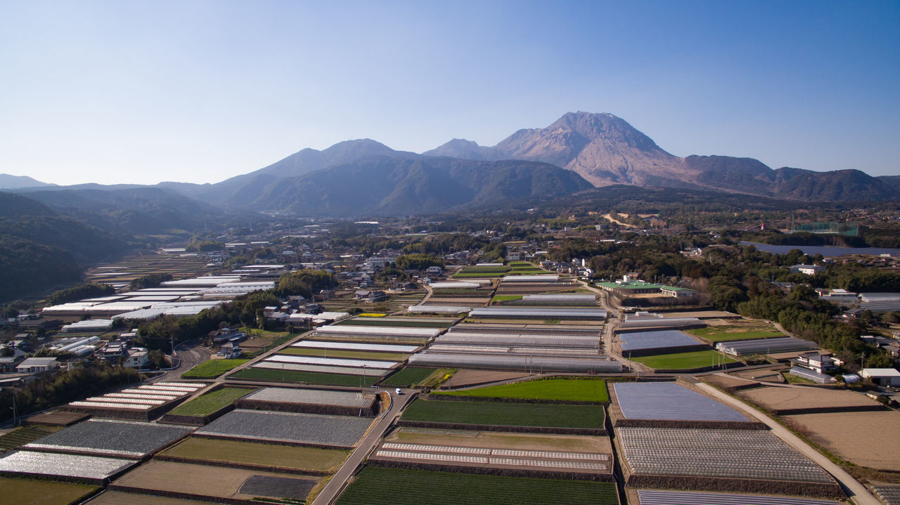Architecture Day District Drone  Dronephotography Drop Mountain No People Outdoors Scenics Solar Panel 平成新山 普賢岳