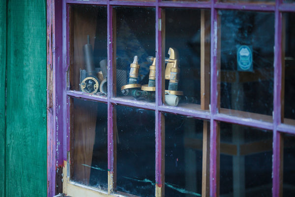 Abandoned Atmospheric Mood Day Derelict Display Displays No People Passing By Past Time Shop Triptych