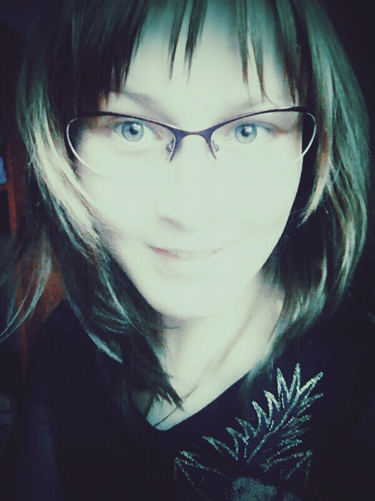 First Eyeem Photo синие волосы очкарик😂👍 синяя мнепокайфу
