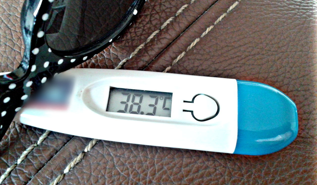 100.9 F !! Body Temperature Celsius Centigrade Close-up Day Disease Fever Health High Fever Indoors  Infection No People Over 100 Degrees Over 38 Degrees Temperature Text Thermometer Tylenol Virus