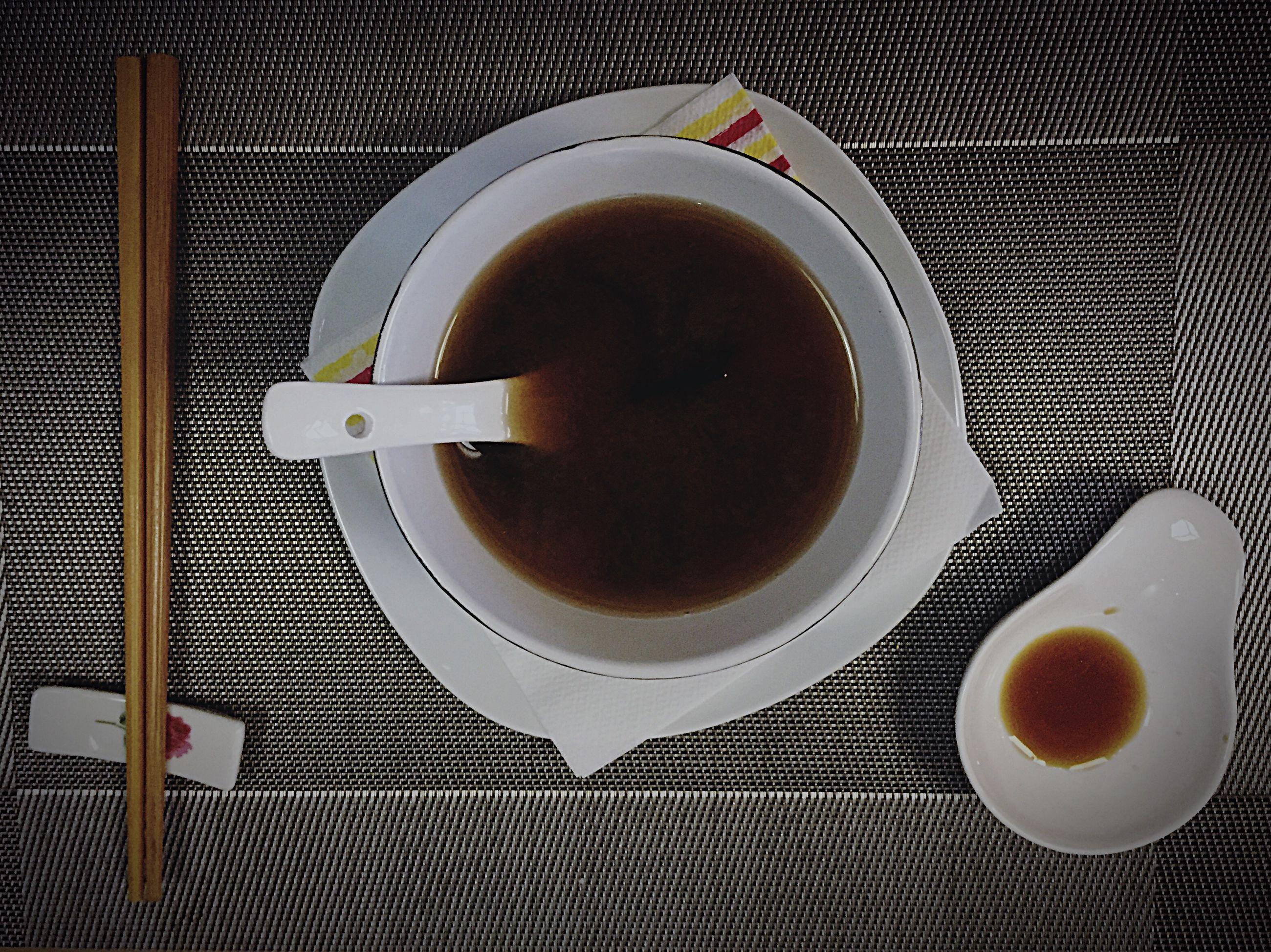 food and drink, coffee cup, drink, freshness, refreshment, coffee - drink, indoors, saucer, coffee, table, still life, spoon, food, directly above, cup, high angle view, plate, breakfast, healthy eating, close-up