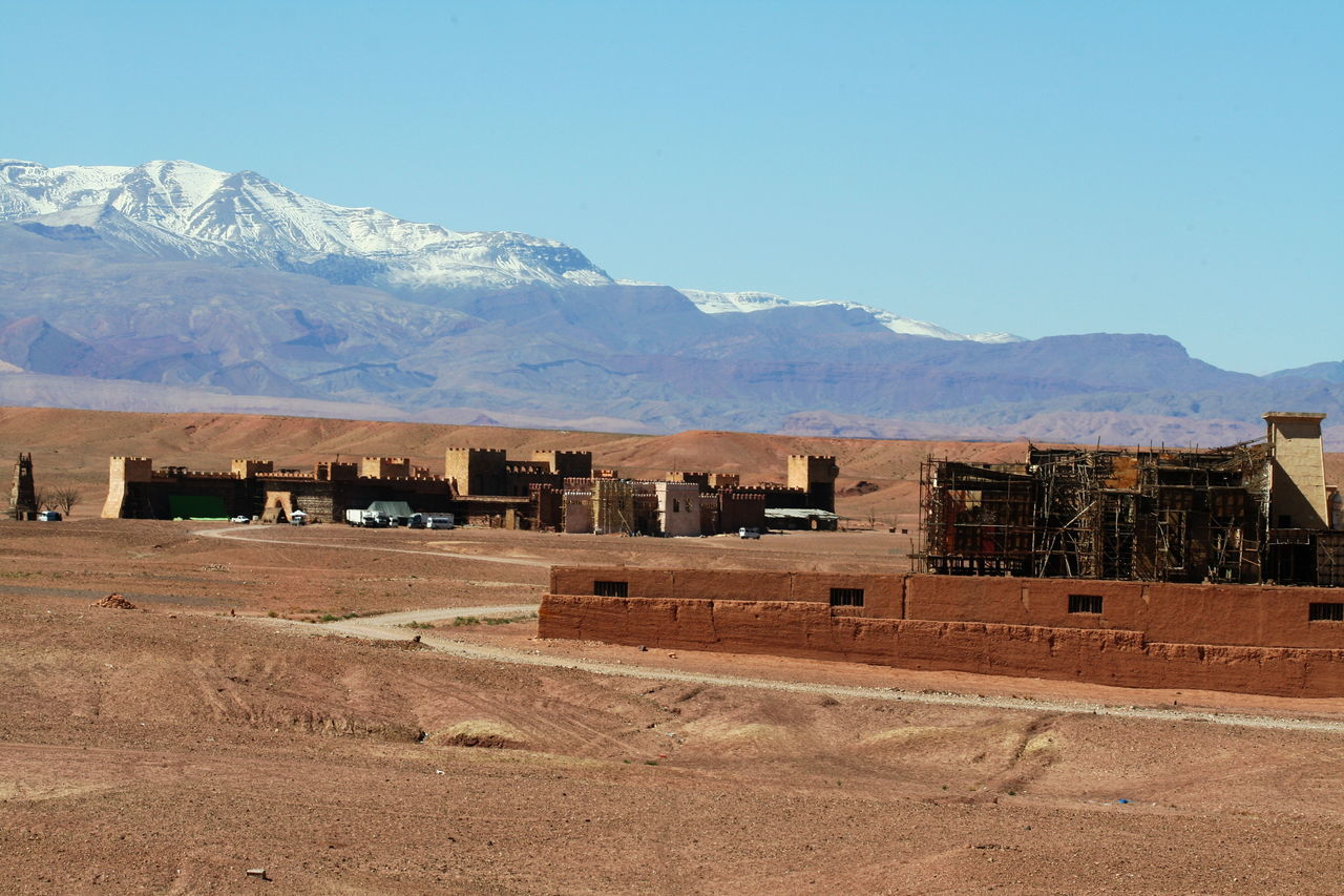 2011 Architecture Arid Climate Building Exterior Built Structure Cinema Studios Day Desert Landscape Morocco Mountain Mountain Range No People Ouarzazate Outdoors Sky