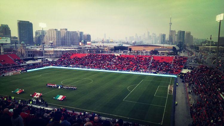 BMO Field, Toronto, Ontario, Canada - AC Milan vs Benfica Legends Soccer Sports Toronto Fans