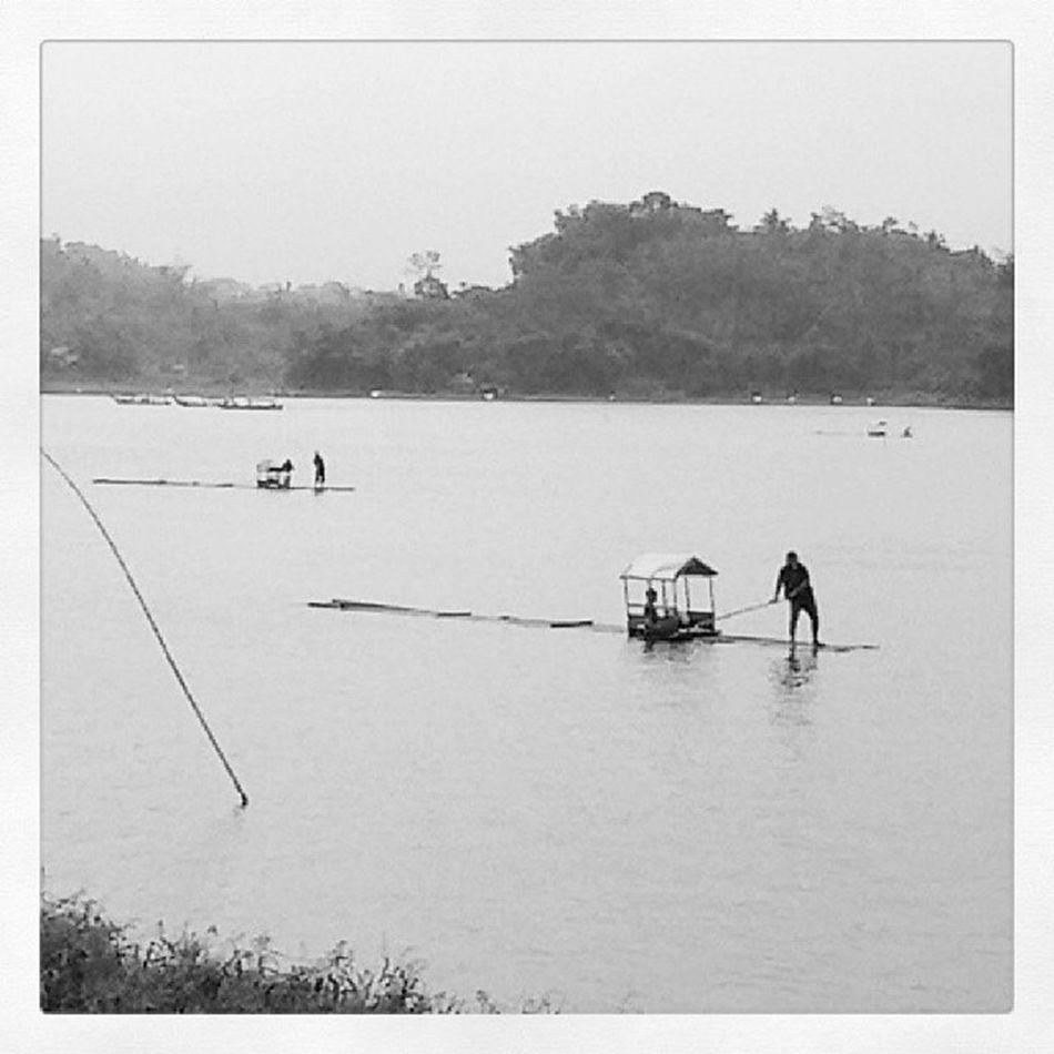 Rakit Bamboo Boat Bambooboat Situgede BIG Lake Biglake Tasikmalaya Westjava INDONESIA NewYear Firstjanuary 2014 Sofialee21
