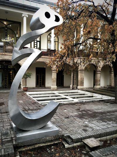 Building Exterior No People Built Structure Day Tree Sculpture Metalsculpture