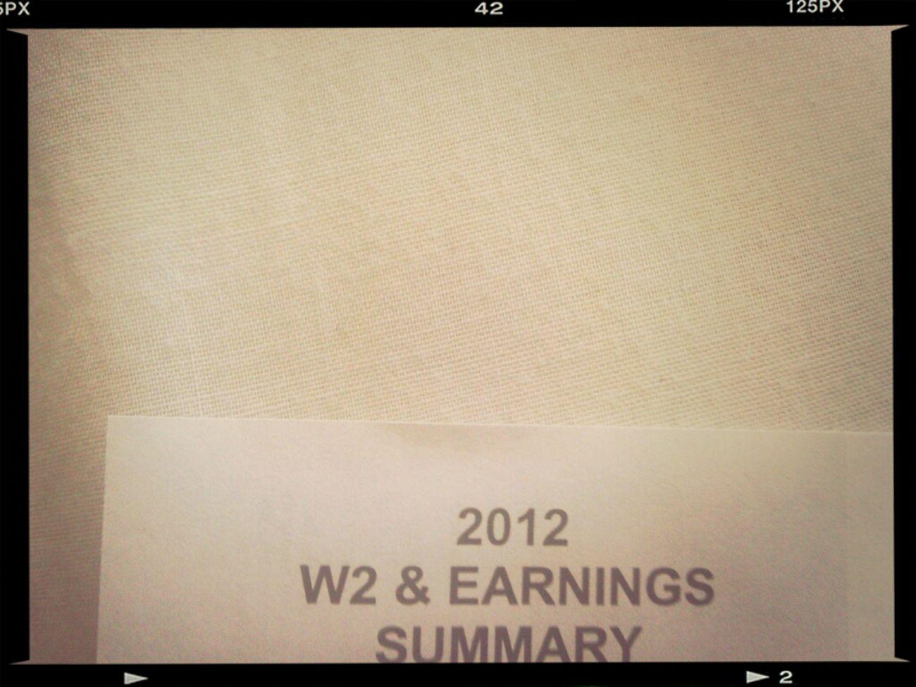 Got My W2's