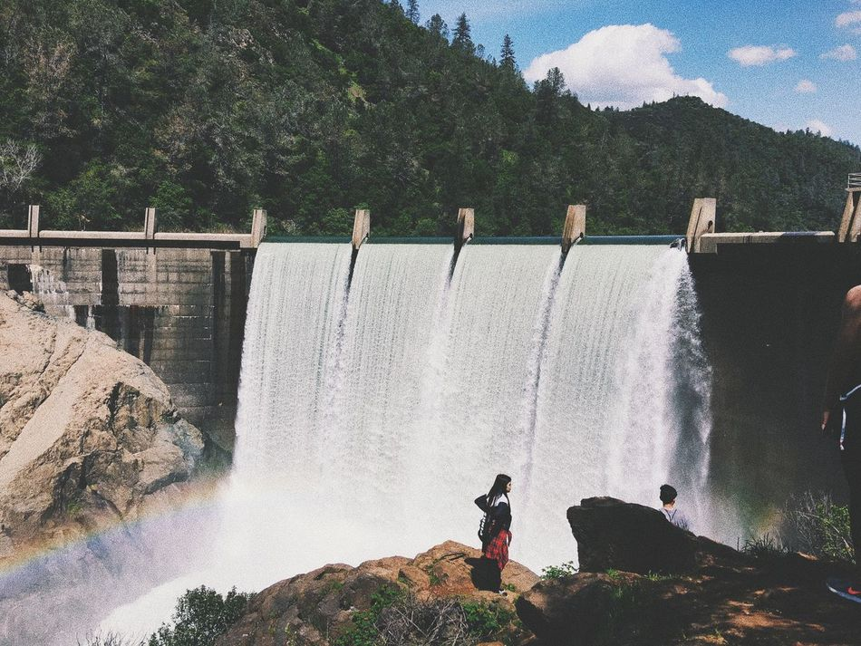 Waterfall Dam Hydroelectric Power Water Motion Flowing Water Long Exposure Fuel And Power Generation Renewable Energy Nature Beauty In Nature Outdoors Day Power In Nature Splashing Scenics Mountain River Alternative Energy Drinking
