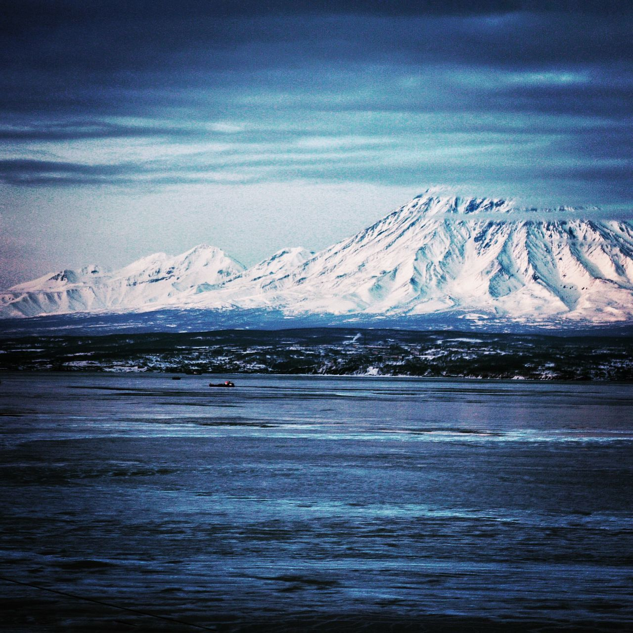 Kamchatka Russia Vilyuchinsk Volcano Volcanoes Volcanic Landscape Mountain Snow Cold Temperature Winter Season  Snowcapped Mountain Tranquil Scene Scenics Mountain Range Beauty In Nature Sky Cloud - Sky Cloud Non-urban Scene Waterfront Ocean Sea Ice Physical Geography