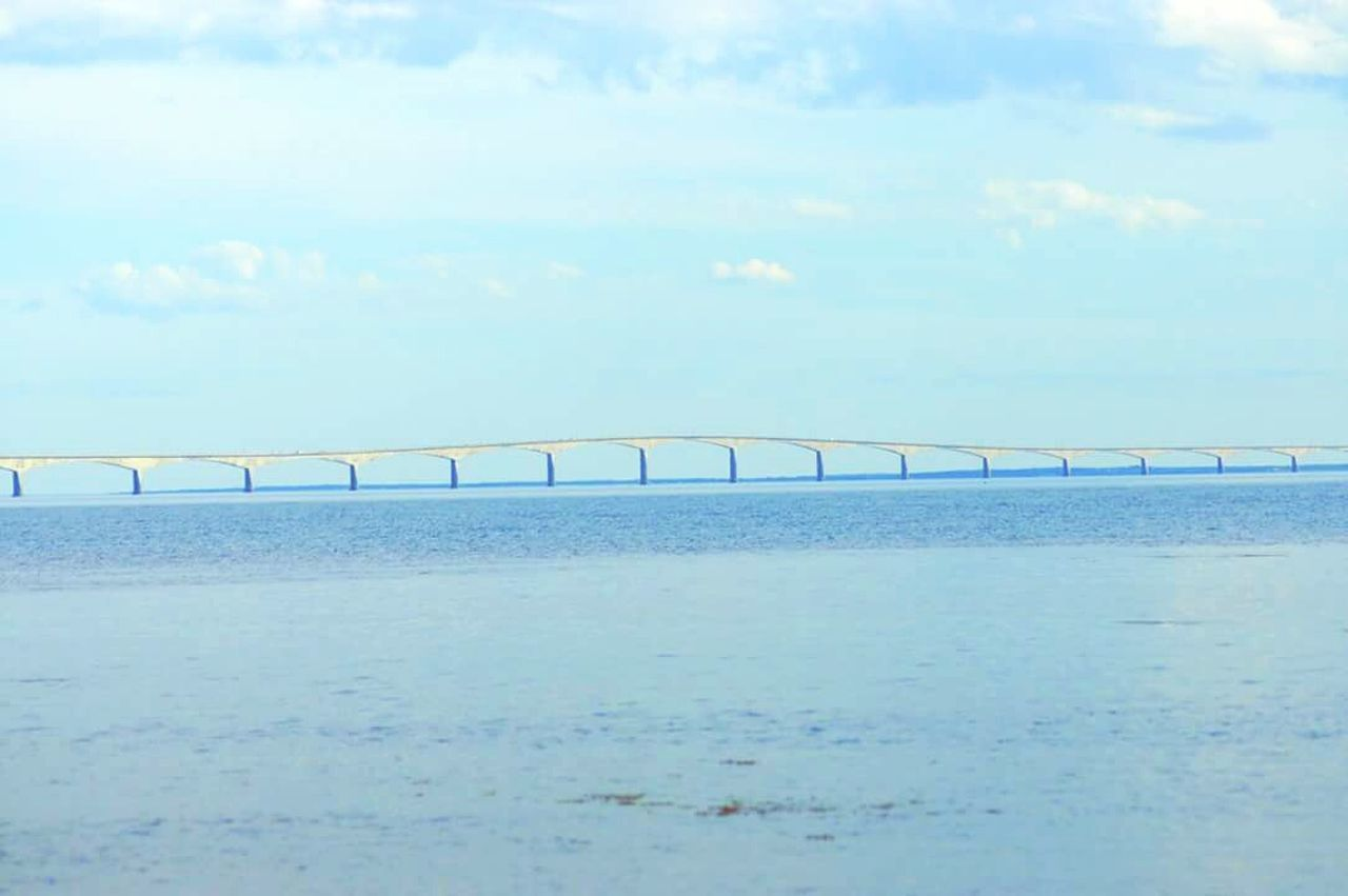 Confederation Bridge Confederationbridge Pei Ocean Atlantic Water Sky Bridge Horizon Over Water Outdoors Sea No People Day Scenics