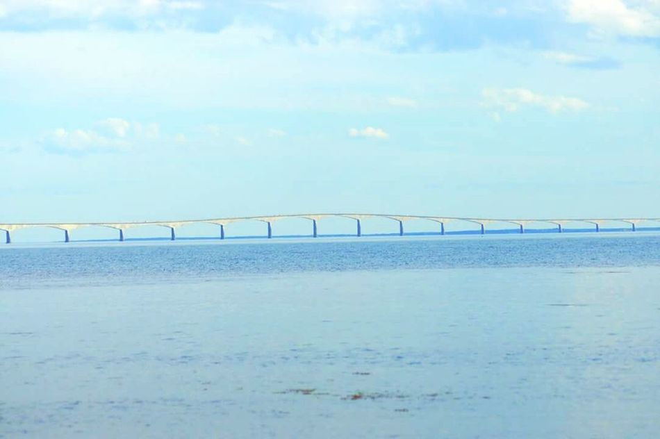 Confederation Bridge Confederationbridge Pei Ocean Atlantic Water Sky Bridge Horizon Over Water Outdoors Sea No People Day Scenics