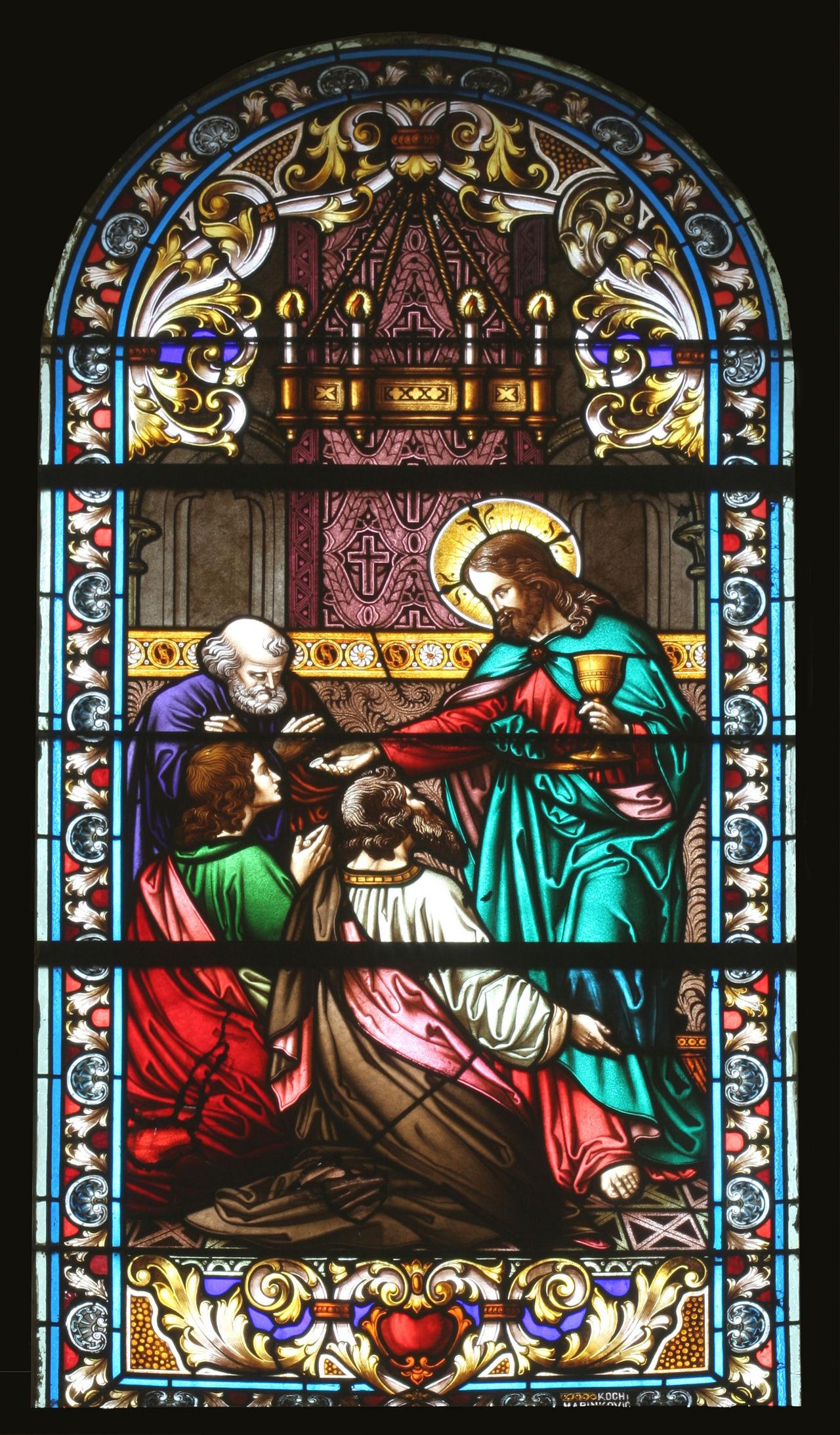 Jesus and the apostles Abbey Apostles Belief Christianity Church Convent Faith Glass Holy Jesus Patron Place Of Worship Religion Religious  Sacred Saint Spiritual Stained Window Windowpane Worship