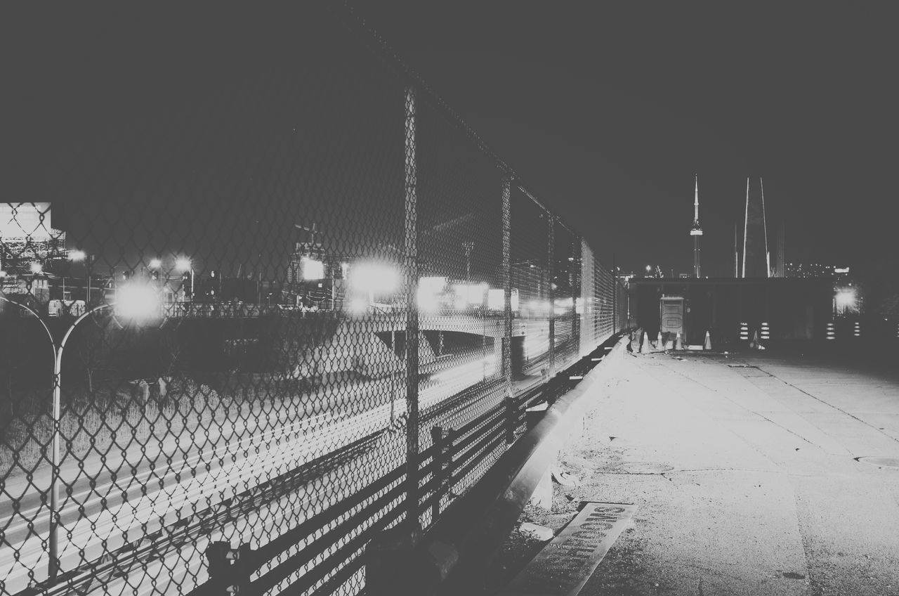 Aperture Creative Light And Shadow Diminishing Perspective Empty Engineering GTA Illuminated Long Night No People Outdoors Sky Slow Exposure Slow Shutter Street Light The Way Forward Toronto Vanishing Point Visualsgang Vscocam Vscogrid Vscotoronto