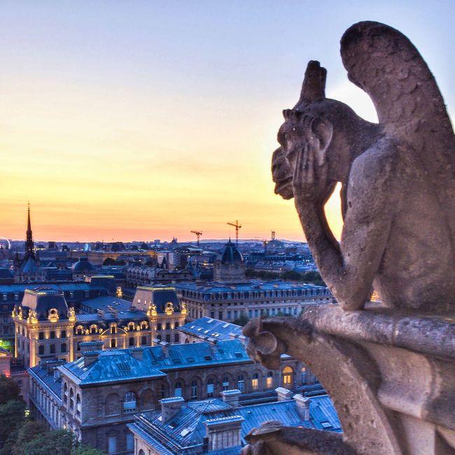 Bonne Nuit Paris! Goodnight Paris! Architecture Eyem Best Shot - Architecture Paris ❤ Parisweloveyou Paris Photooftheday EyeEm Best Shots Sunset_collection Notre Dame De Paris Nightphotography Sunset