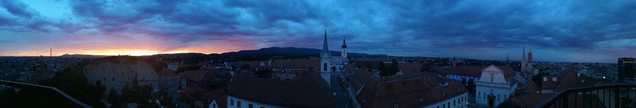 Beautiful sunset in Zagreb Zagreb Sunset Beautiful Day Night Dayandnight Pivotal Ideas