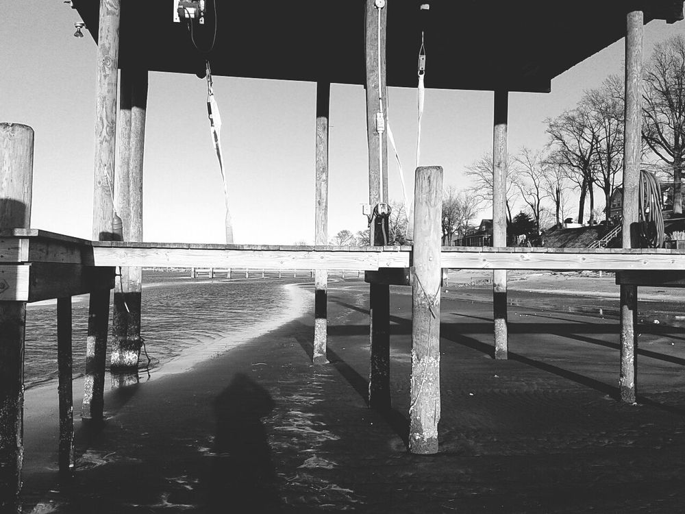 Exposed Boat Dock. Tide out. Enjoying The Sun Near And Far Don Filter Black & White
