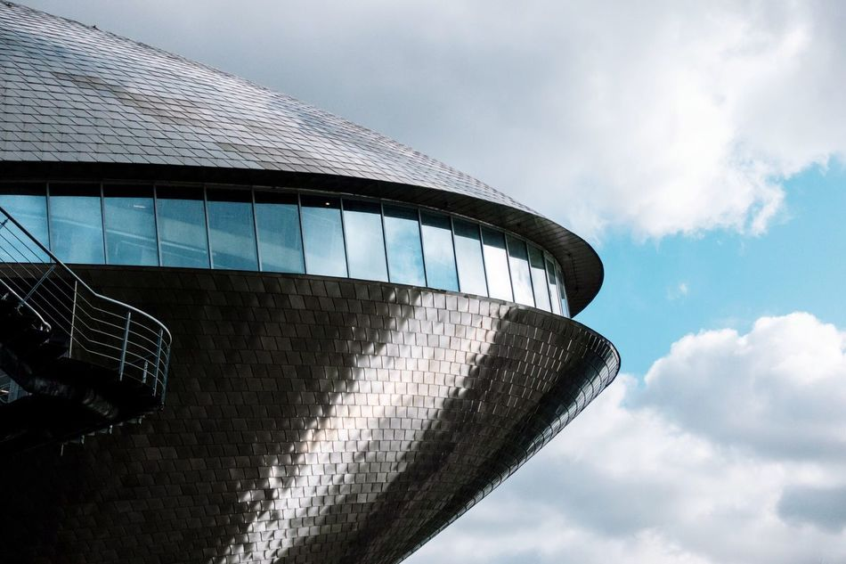 Spaceship II Futuristic Architecture Architecture_collection Architectural Detail Architecturelovers Architecture Sky Built Structure Building Exterior Cloud - Sky Low Angle View Modern Outdoors Day No People Welcome To Black
