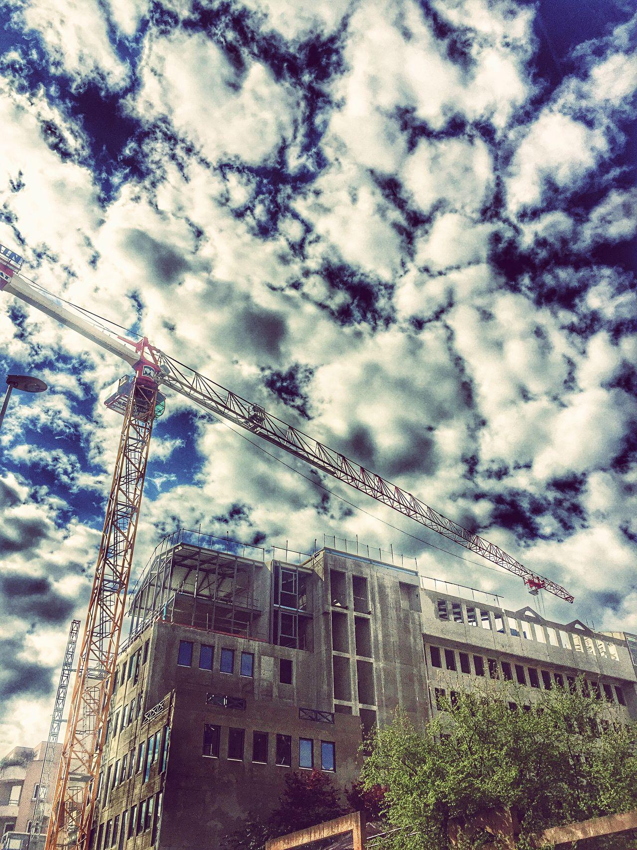 Construction Construction Site Construction Worker French Lyon Part Dieu District