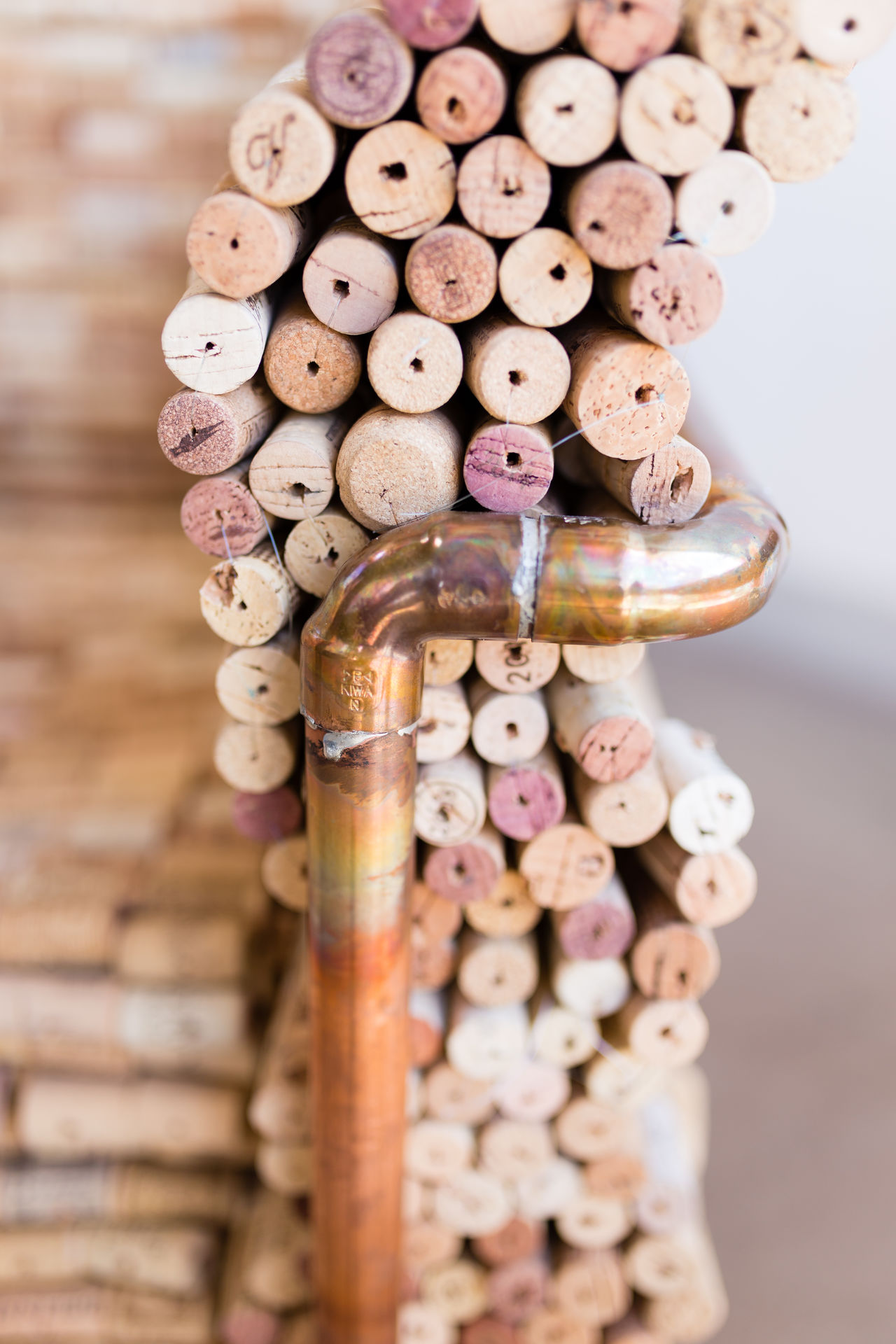 Copper and cork, Modern Chair design. Abundance Chair Chairs Close-up Copper  Copper Art Cork Cork - Stopper Design Furniture Indoors  Natural No People Stack Wine Wine Cork Wine Moments Wood - Material
