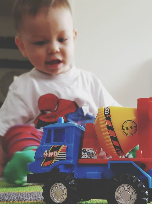 MeinAutomoment Car Toy Car Playing Babyboy Baby Toddler  Brrrrrm Wroom Wroom Joy Life Kid Check This Out Hello World