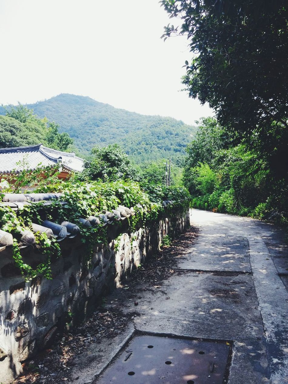 A small road among the famous memorial landmark for a korean poet